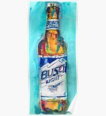 Busch Light Beer Original Beer Art Watercolor Poster