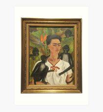 Selbstporträt mit Affen von Frida Kahlo Kunstdruck