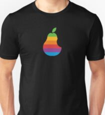 Pear Apple Parody Funny Retro Unisex T-Shirt