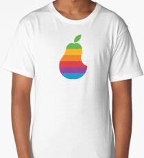 Pear Apple Parody Funny Retro Long T-Shirt