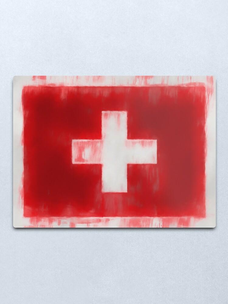 Alternate view of Swiss Flag No. 66, Series 1 Metal Print