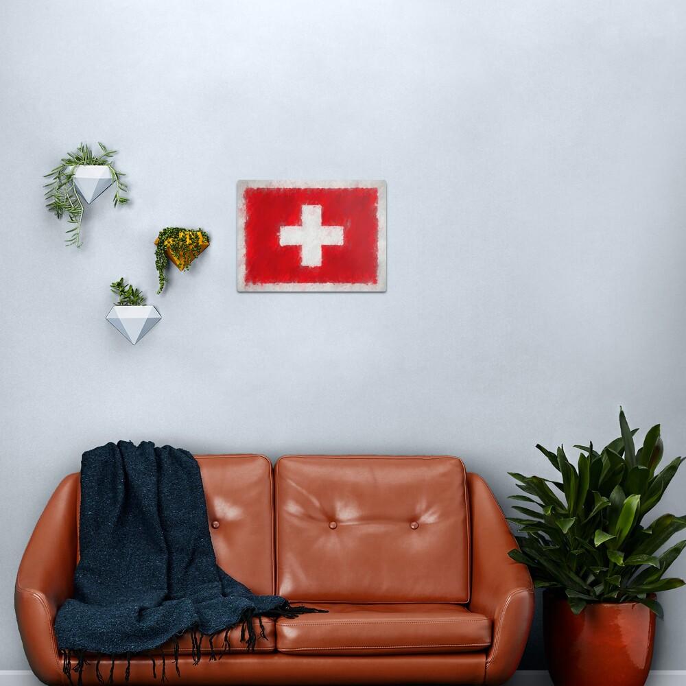 Swiss Flag No. 66, Series 4 Metal Print