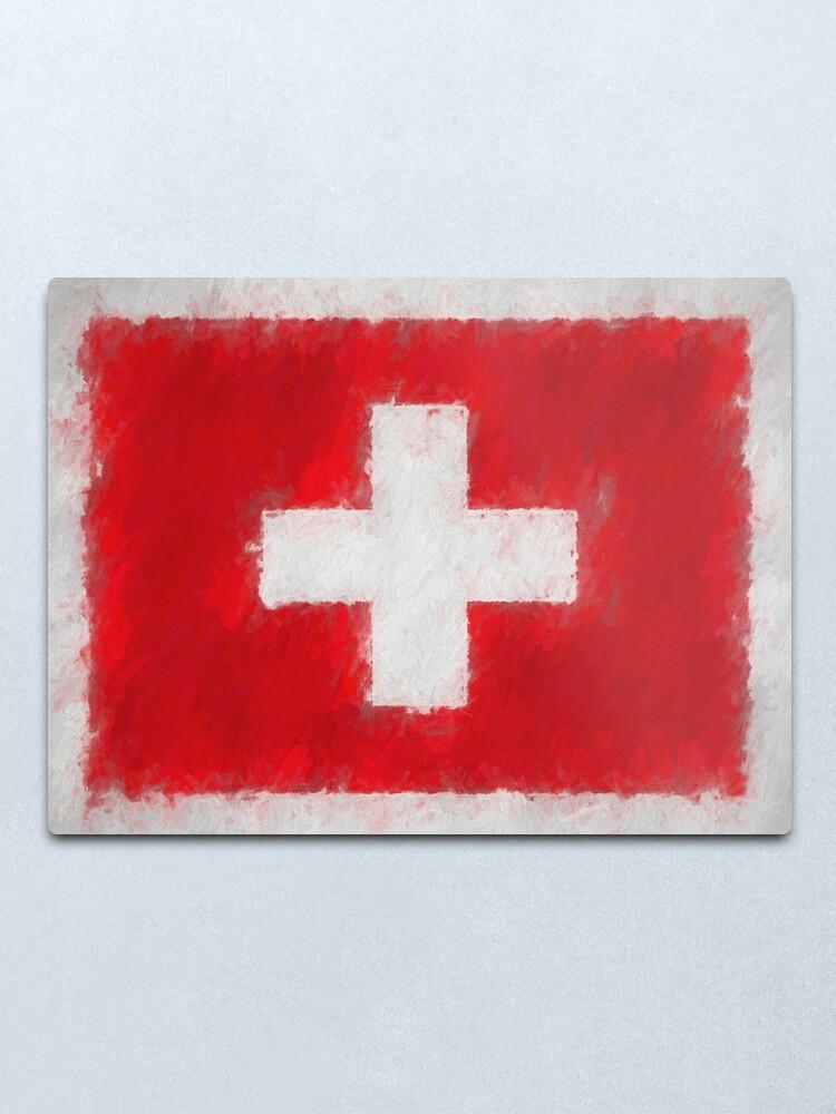 Alternate view of Swiss Flag No. 66, Series 4 Metal Print