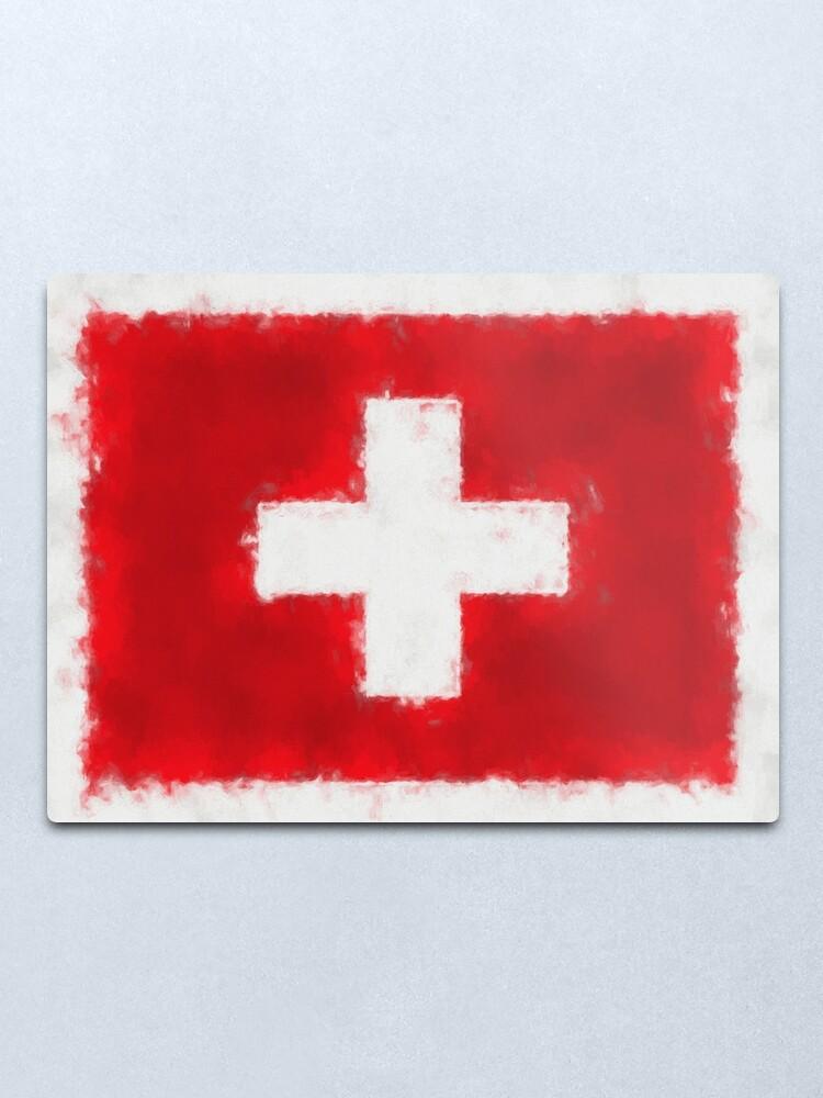 Alternate view of Swiss Flag No. 66, Series 5 Metal Print