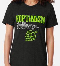 Best Selling Hoptimist with A Hoptimism Craft Beer Tri-blend T-Shirt