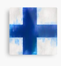 Finnish Flag No. 1, Series 1 Metallbild
