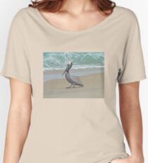 Brown Pelican - Pelecanus occidentalis Women's Relaxed Fit T-Shirt