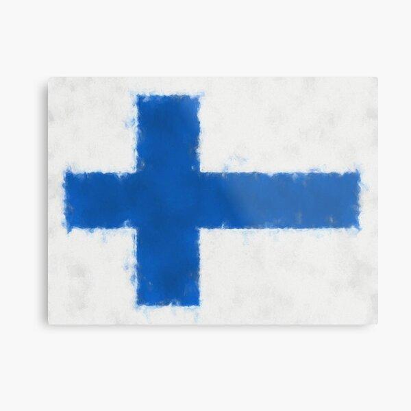 Finnish Flag No. 66, Series 5 Metal Print