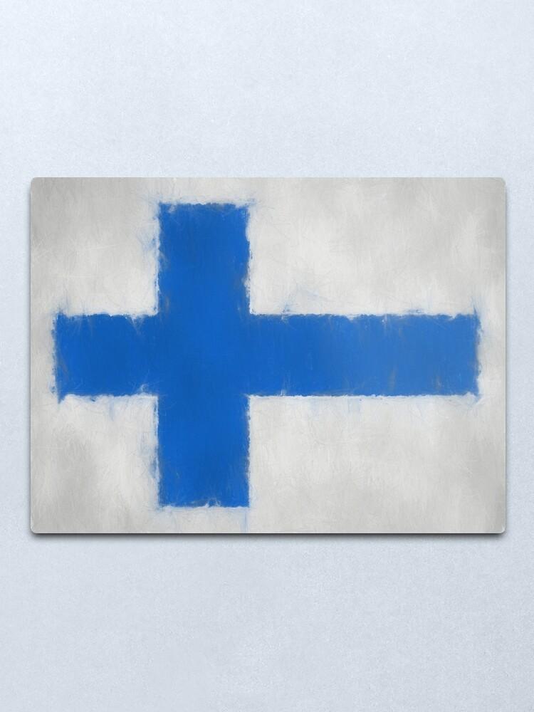 Alternate view of Finnish Flag No. 66, Series 3 Metal Print