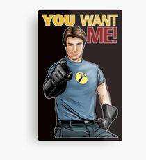 Captain Hammer - You Want Me Metal Print