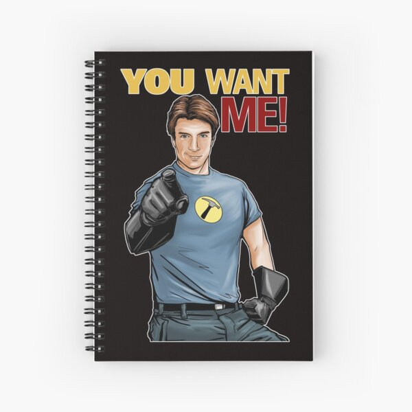 Captain Hammer - You Want Me Spiral Notebook