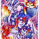 Witchy Mama and Baby Vamplette by Penelope Barbalios