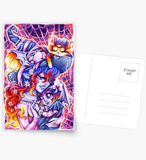 Witchy Mama and Baby Vamplette Postcards