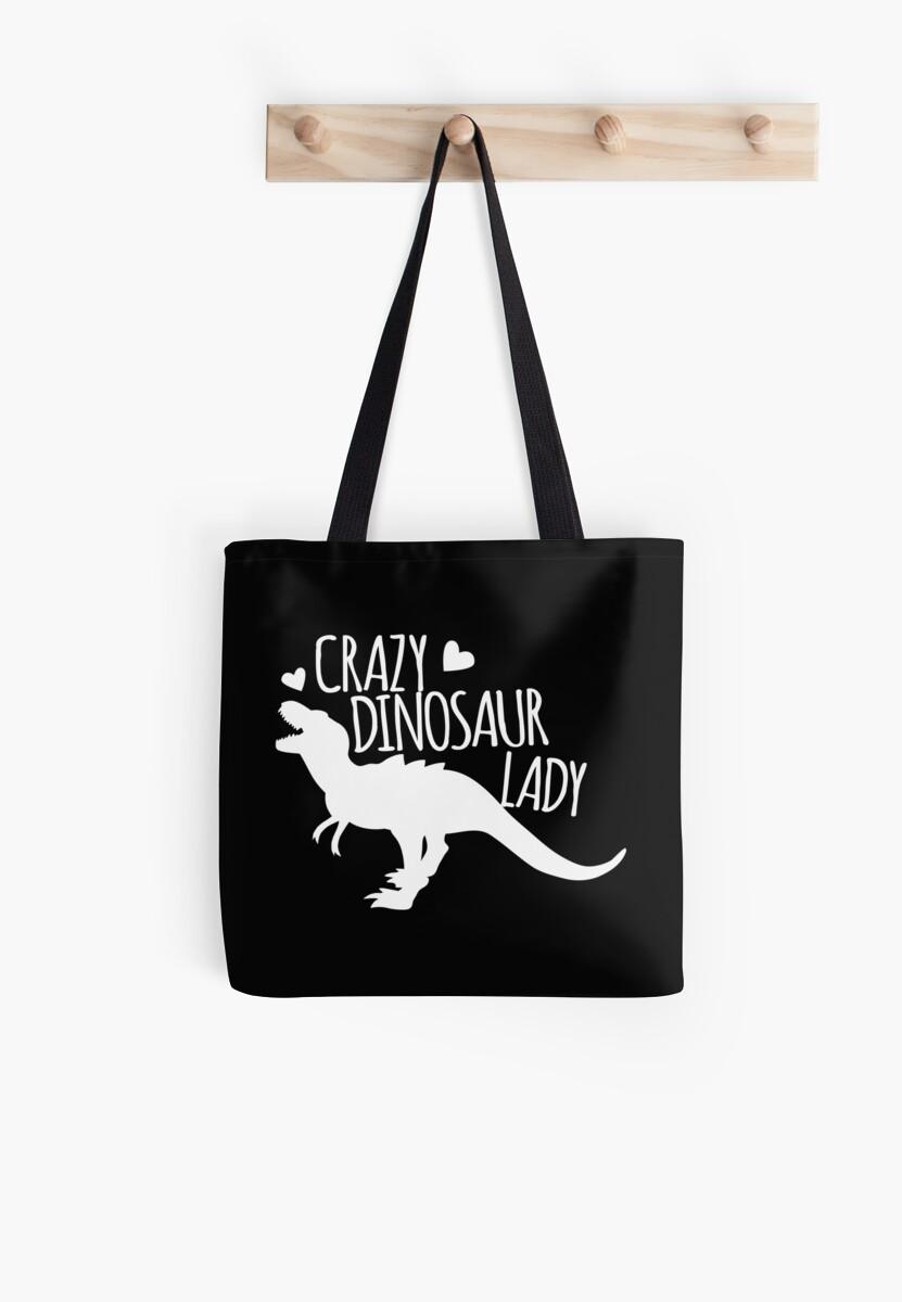Crazy Dinosaur Lady (in white) by jazzydevil