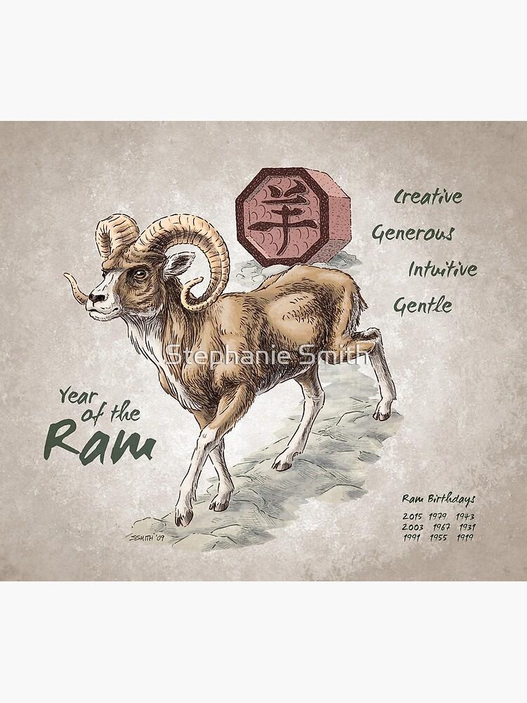 Year of the Ram Calendar (white) by stephsmith