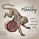 Year of the Monkey Calendar (white) by Stephanie Smith