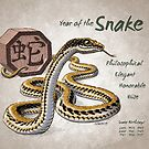 Year of the Snake Calendar (white) by Stephanie Smith