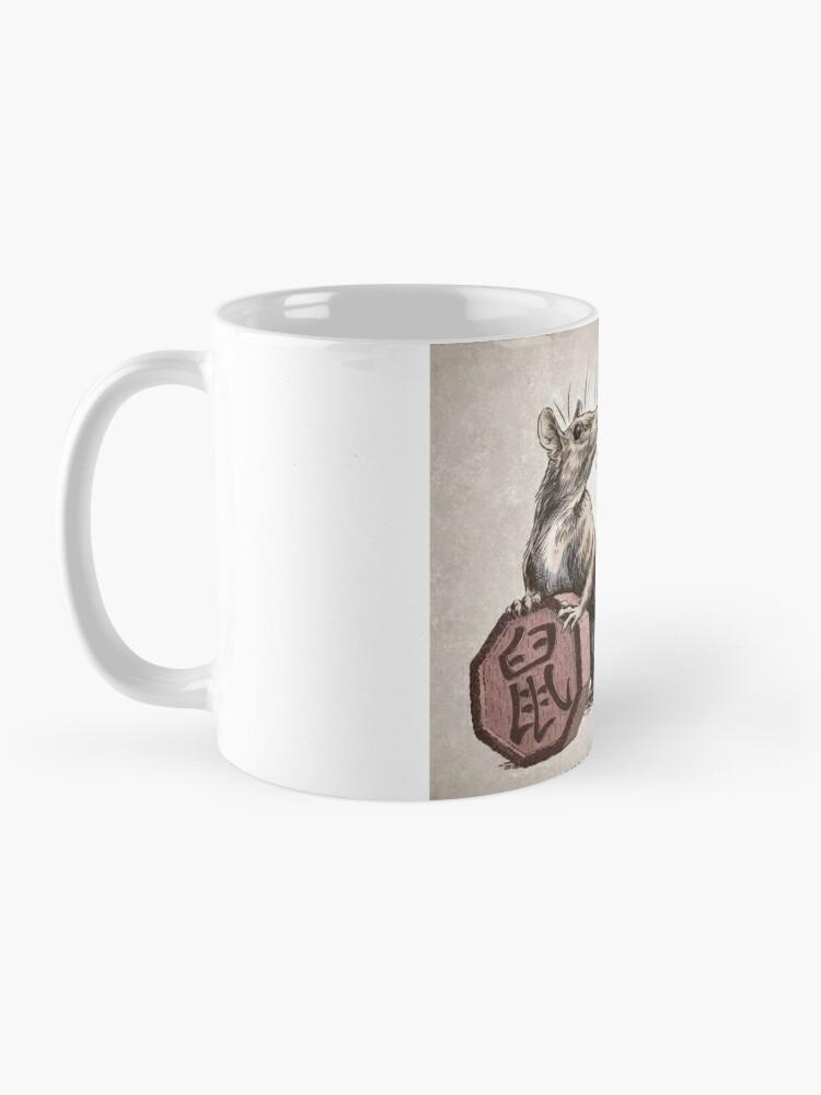 Alternate view of Year of the Rat Calendar (white) Mug