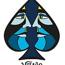 VIZAĜO - Ace of Spades  by Annette Abolins