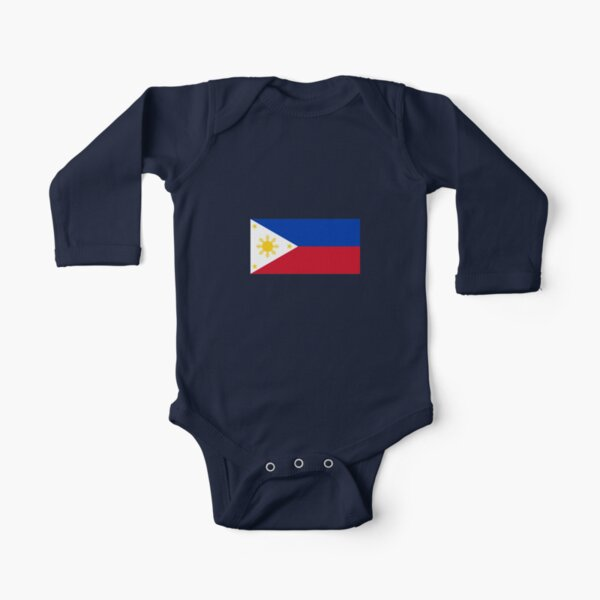 Just Born Baby Girls Baby Boys Girls Bodysuits Half Philippines Flag Half USA Flag Love Heart Cotton Long Sleeve Baby Clothes