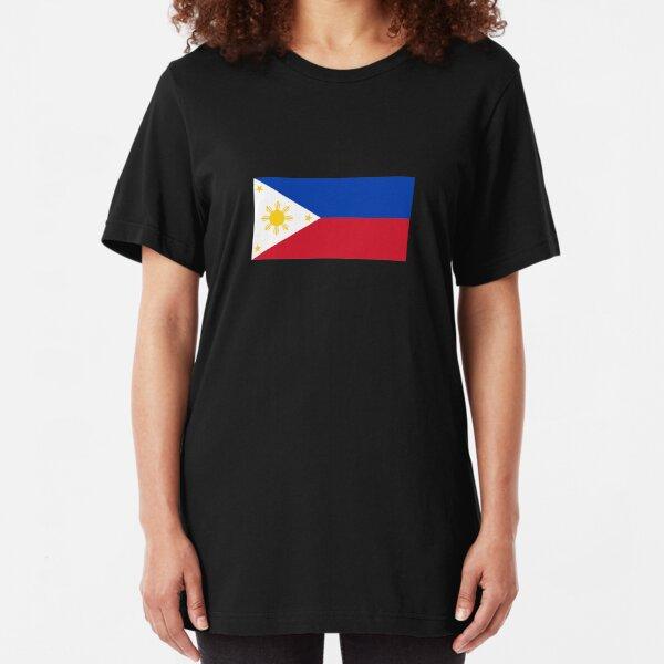 Philippines Flag - Filipino Sticker Poster Slim Fit T-Shirt