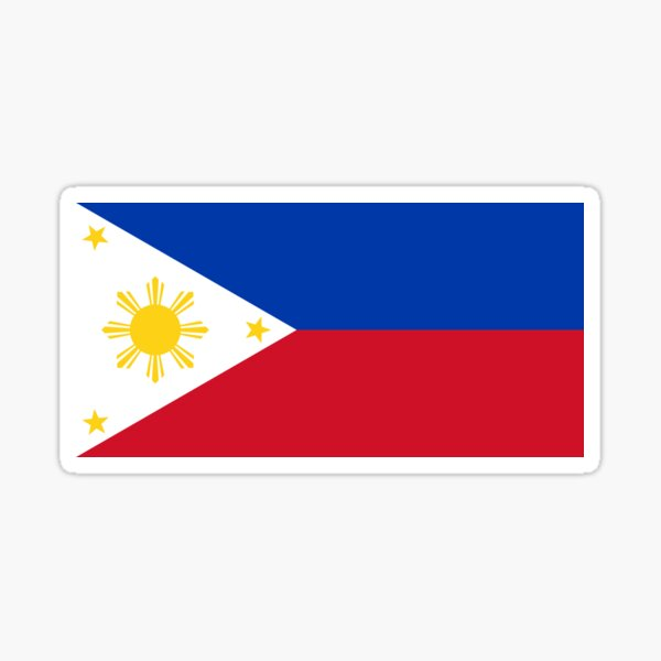 Philippines Flag - Filipino Sticker Poster Sticker