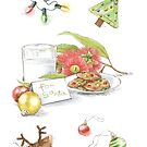 For Santa Christmas Card by Amanda Francey