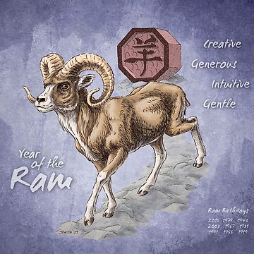 Year of the Ram Calendar by stephsmith