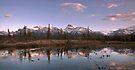 Sunset Over Mount Peskett at Kootenay Plains by Alex Preiss