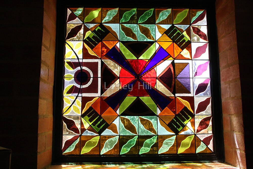 Stained Glass Again by Lesley  Hill