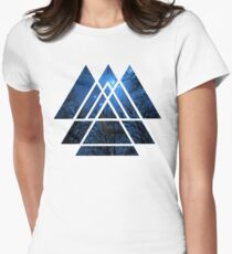 Sacred Geometry Triangles - Wisdom Of The Night Women's Fitted T-Shirt
