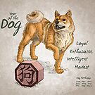 Year of the Dog Calendar (White) by Stephanie Smith
