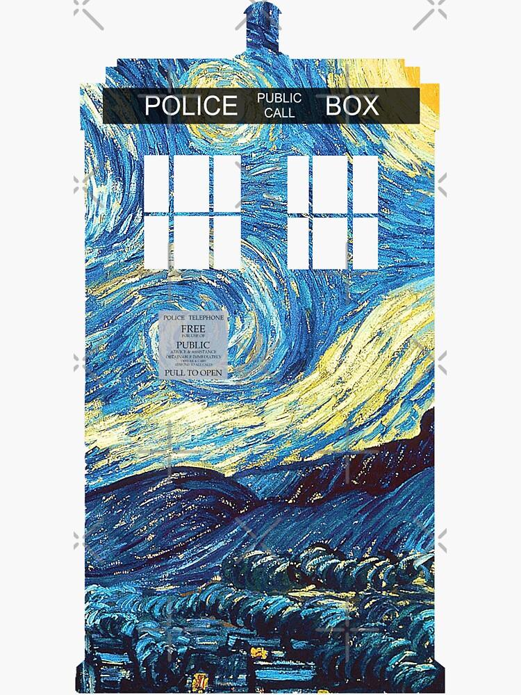 TARDIS de Van Gogh de andrealam