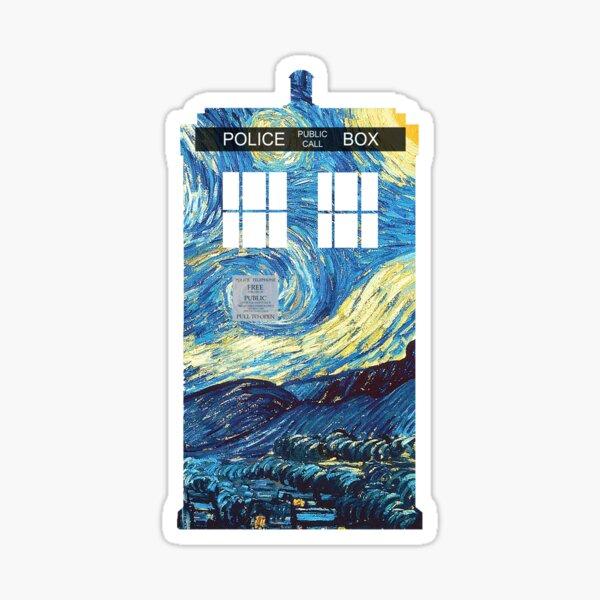 Van Gogh's TARDIS Sticker