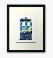 Van Gogh's TARDIS Framed Print