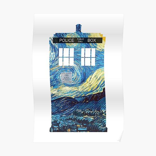 Van Gogh's TARDIS Poster