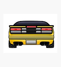 300zx [Z32] - Yellow Photographic Print