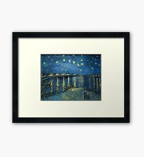 Starry Night Over the Rhône by Vincent van Gogh Framed Print