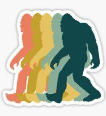 Bigfoot Retro Design Sticker