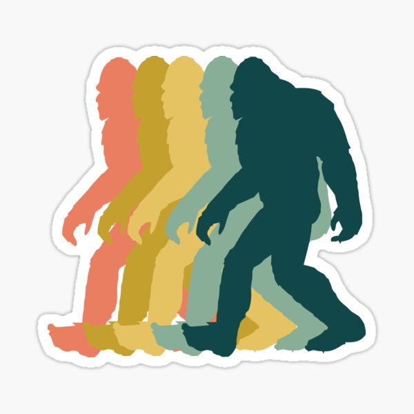Bigfoot Retro Sticker