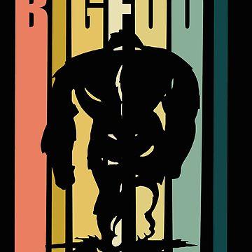Bigfoot Retro Design - Bigfoot by kudostees