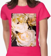 Beautiful White Roses Womens Fitted T-Shirt