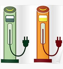 Electric gas station Poster
