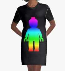 Minifig [Large Rainbow 1]  Graphic T-Shirt Dress