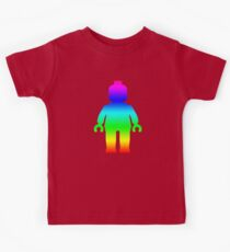 Minifig [Large Rainbow 1]  Kids Tee