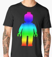 Minifig [Large Rainbow 1]  Men's Premium T-Shirt