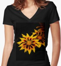 Stunning Flower Women's Fitted V-Neck T-Shirt