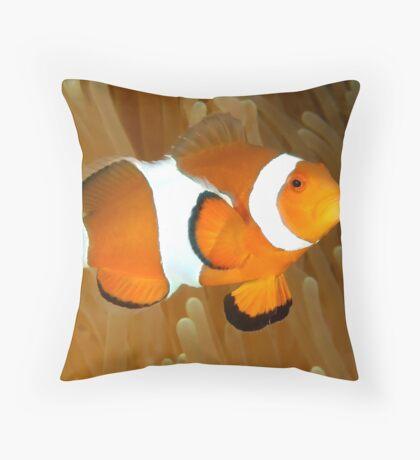 Western Clown Anemonefish Throw Pillow
