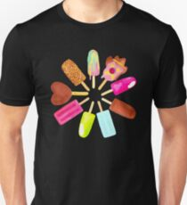 Aussie Ice Creams - Scatter - Black Unisex T-Shirt