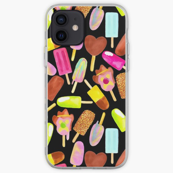Aussie Ice Creams - Scatter - Black iPhone Soft Case